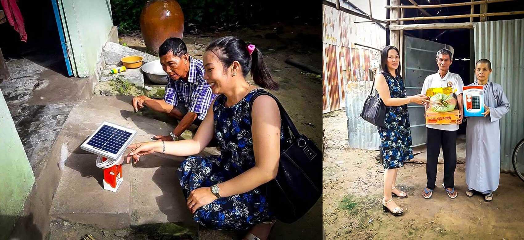 Ngày 22/11/2016, Công ty Vũ Phong cùng đại lý Vũ Sơn (Vũng Tàu) đã tặng nhu yếu phẩm (gạo, muối, bột ngọt) và đèn mặt trời SolarV cho 14 gia đình khó khăn tại huyện Tri Tôn – An Giang.